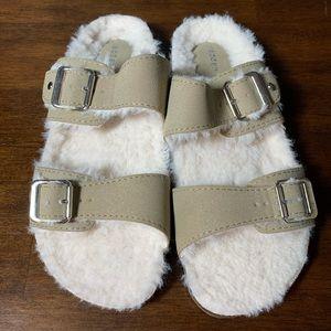 Madden Girl Brando faux fur sandal